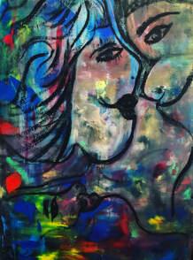Art by Amiiri Cantillo featured at Raw Space, Vero Beach, FL