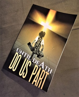 "Book cover: ""Until Death Do Us Part, a memoir of domestic violence. A voice No Longer Silenced"" by Amiiri Cantillo featured at Raw Space, Vero Beach, FL."